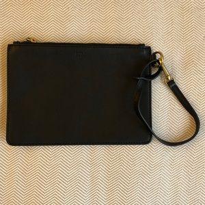 ✨POLO Ralph Lauren black leather wristlet✨